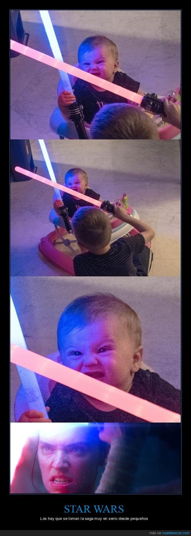 bebé,cara,sables láser,star wars