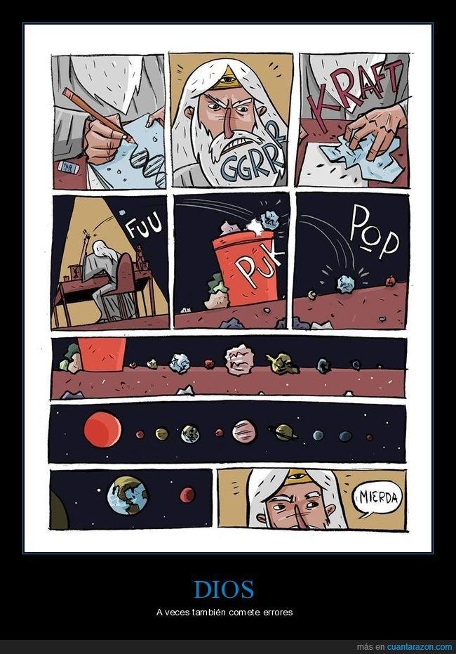dios,error,sistema solar,tierra