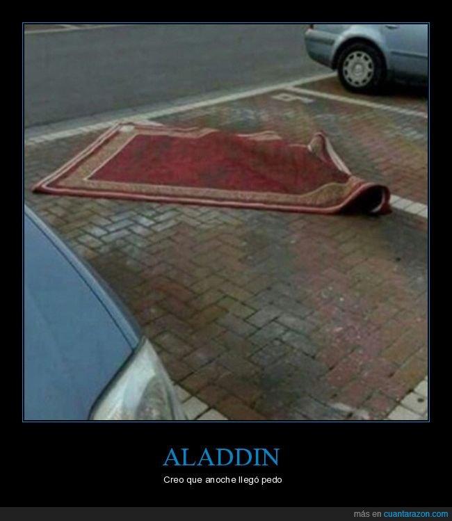 aladdin,alfombra,aparcamiento