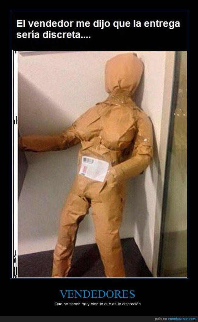discreta,entrega,muñeca hinchable,vendedor