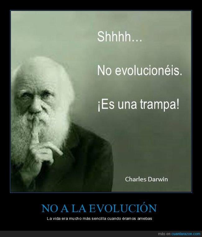 citas,darwin,evolucionar,trampa