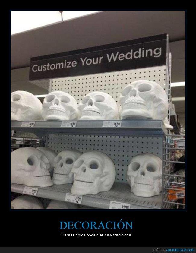 boda,calaveras,decoración