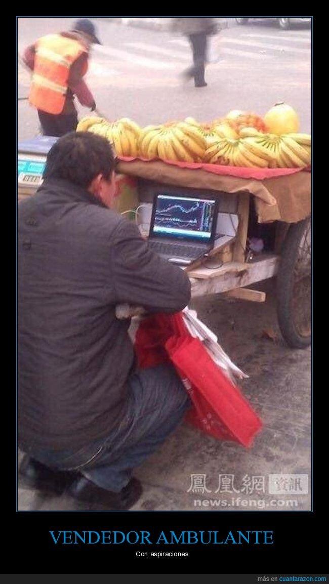 bolsa,ordenador,vendedor ambulante