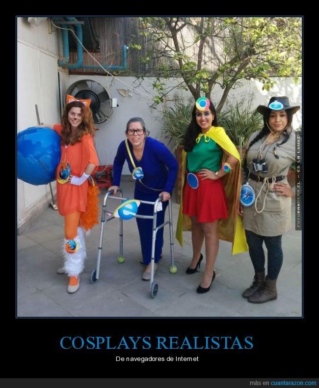 cosplays,disfraces,internmet,navegadores