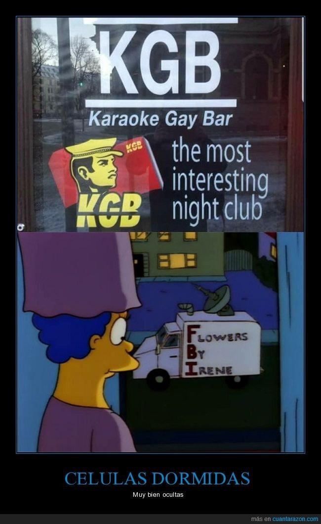 fbi,karaoke,kgb,parecidos,simpsons