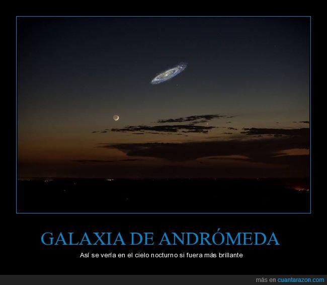 andrómeda,brillante,cielo,galaxia