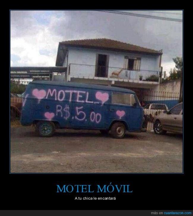 cutre,furgoneta,motel