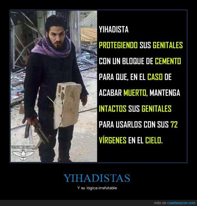 genitales,protegiendo,wtf,yihadista