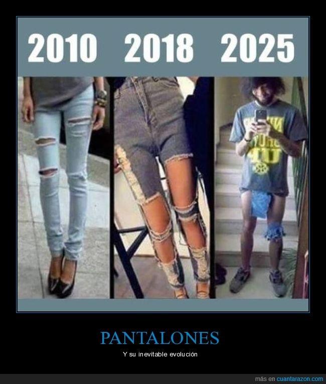 2010,2018,2025,evolución,pantalones