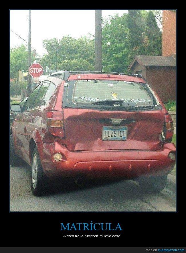 choque,coche,fail,matrícula