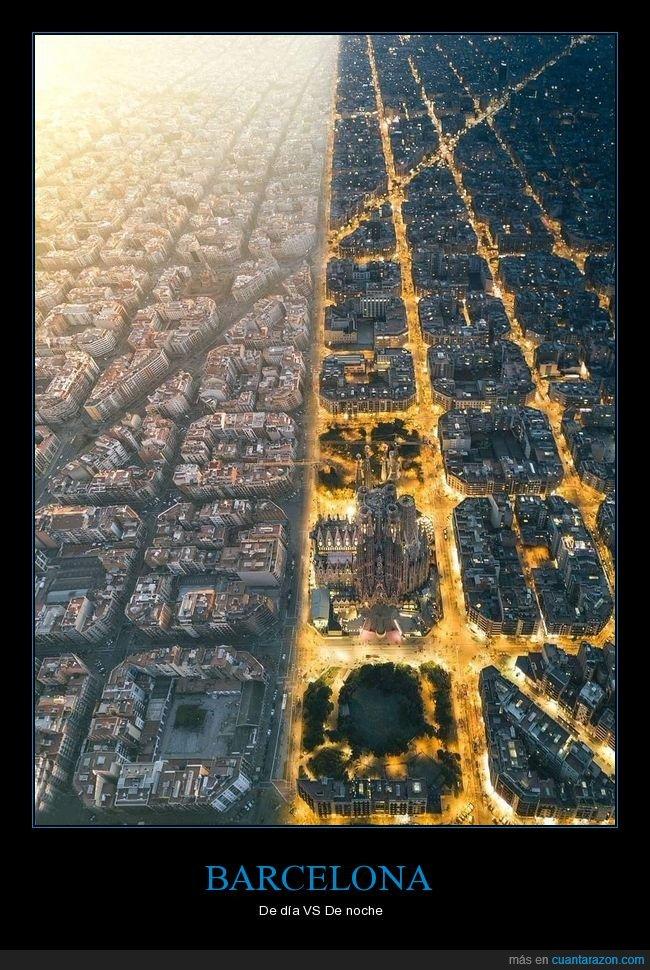 barcelona,día,noche
