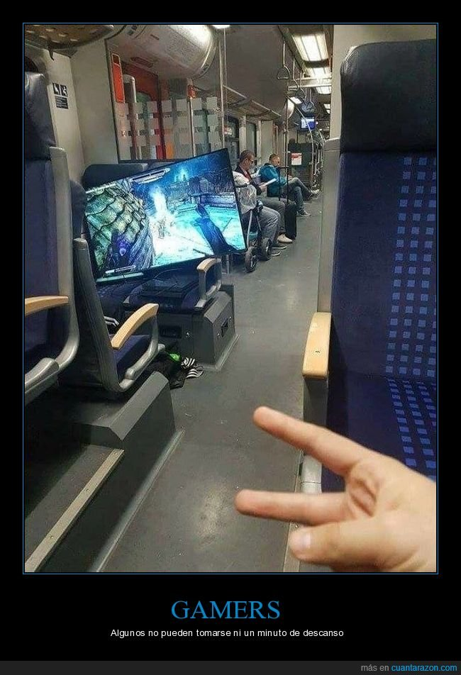 gamer,jugando,metro