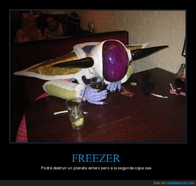 bar,disfraz,dragon ball,freezer