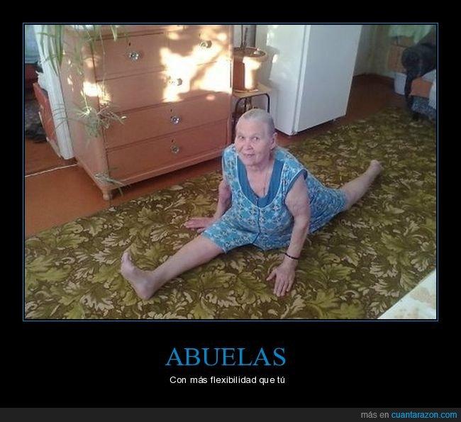 abuela,flexibilidad,piernas