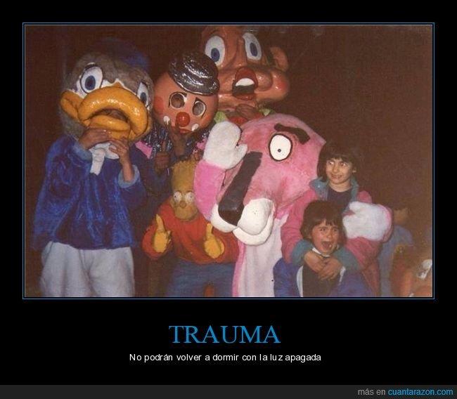 disfraces,miedo,niños,trauma