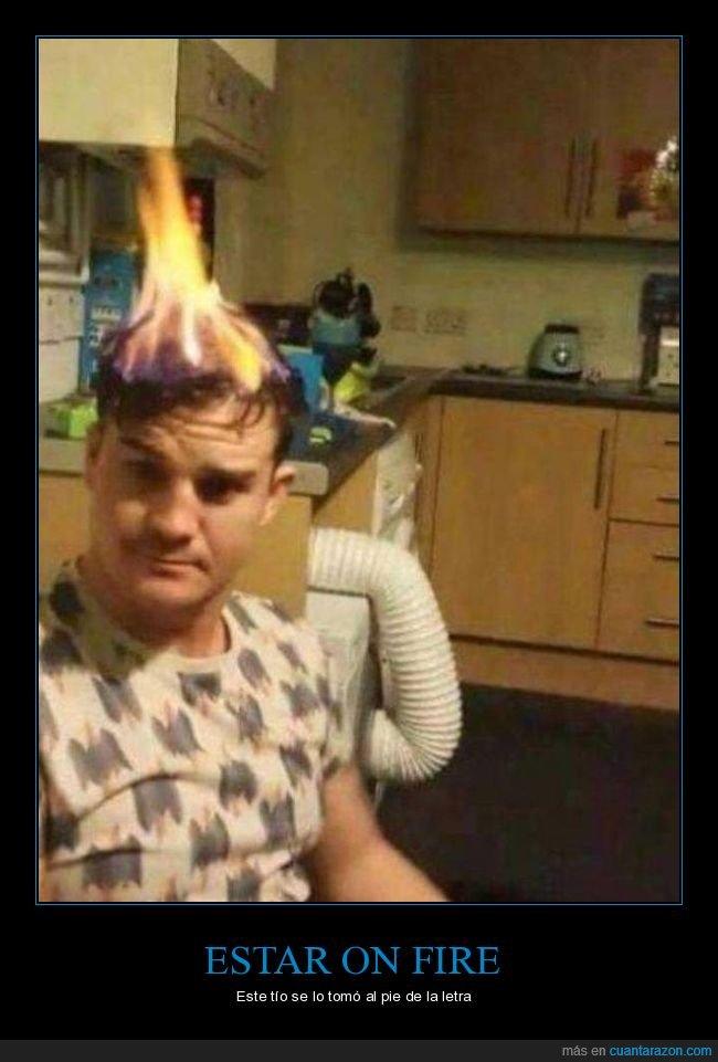 ardiendo,cabeza,fuego,pelo