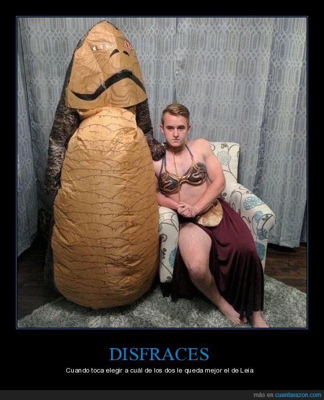 disfraces,jabba,leia,star wars