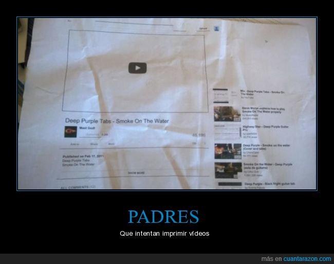 imprimir,padre,vídeo