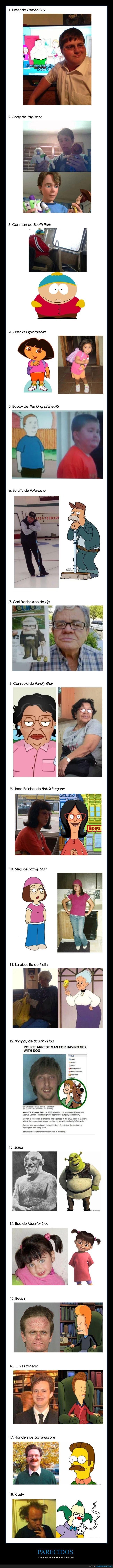 dibujos animados,parecidos