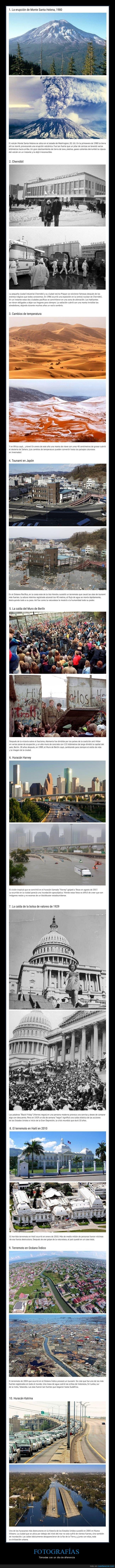 catástrofes,diferencias,fotografías,un día