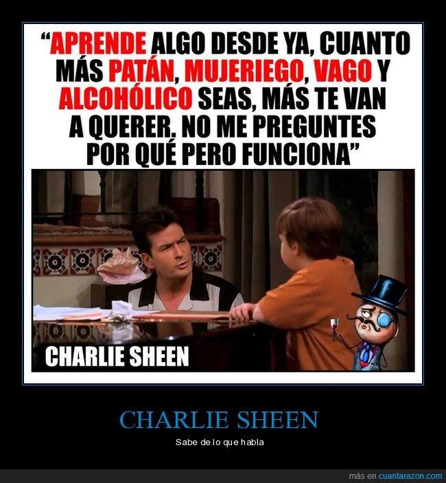 charlie sheen,citas,consejo,dos hombres y medio,hombres,mujeres,querer