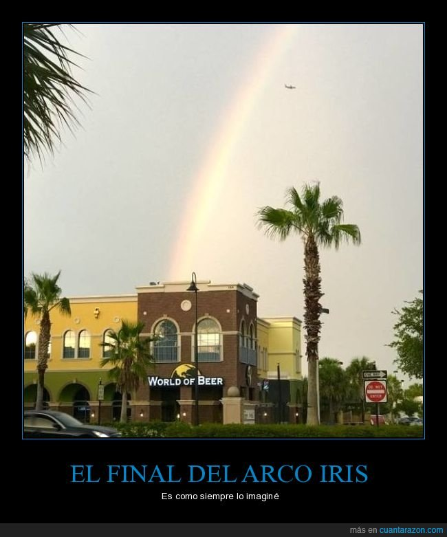arco iris,cervecería,final