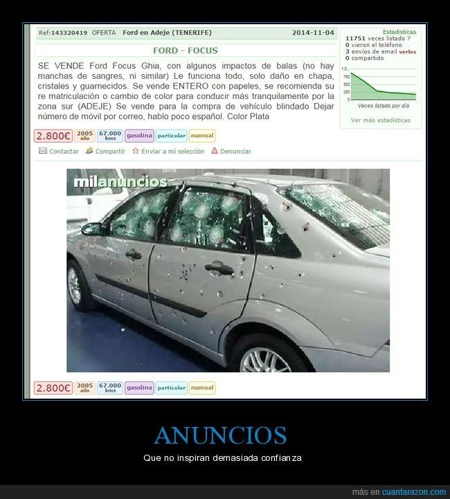 agujeros de bala,anuncio,coche
