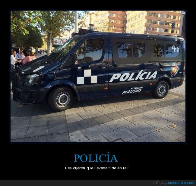 fail,ortografía,policía