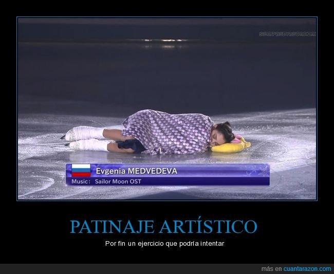 durmiendo,patinaje,tumbada