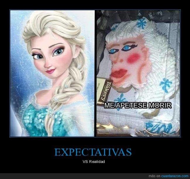 elsa,fails,frozen,tarta