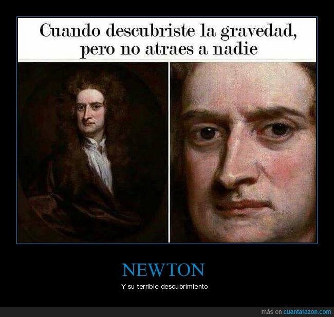 atraer,descubrir,gravedad,newton