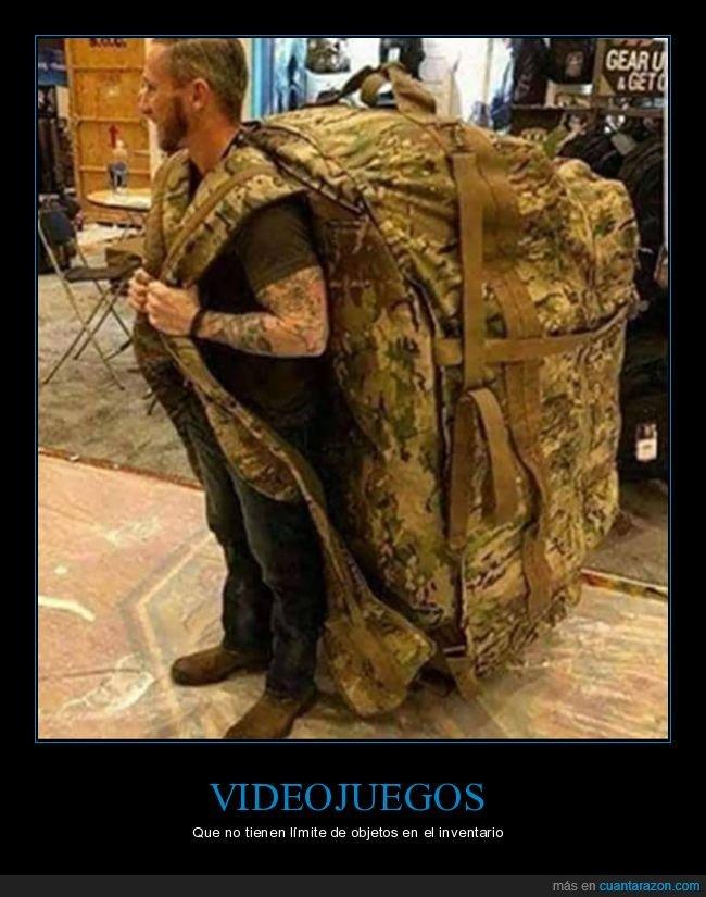 gigante,inventario,mochila,videojuegos