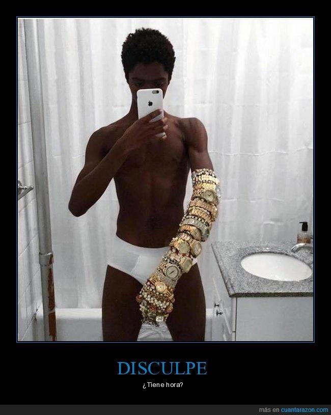 brazo,relojes,selfie