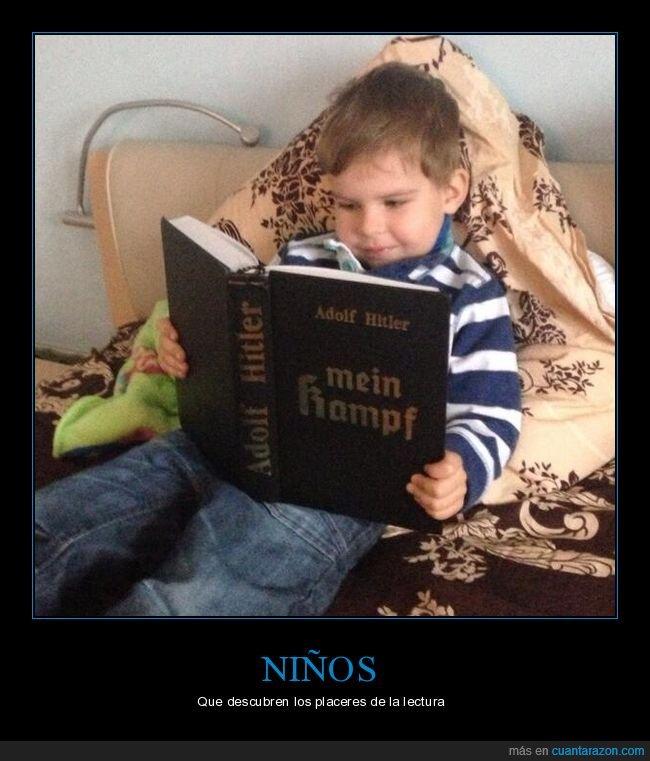hitler,leyendo,libro,mein kampf,niño