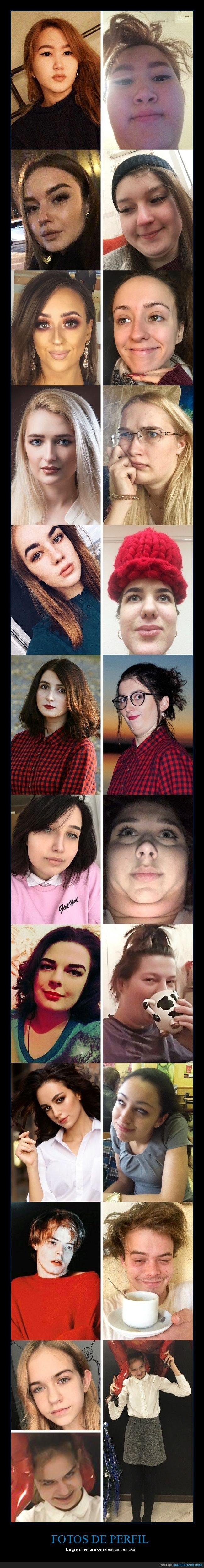 caras,expectativas,fotos de perfil,realidad