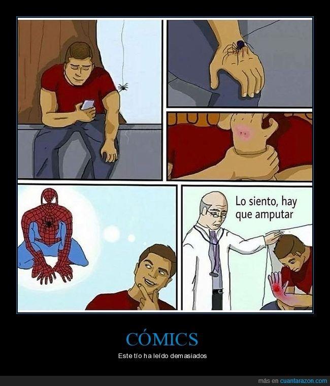 araña,picadura,spiderman