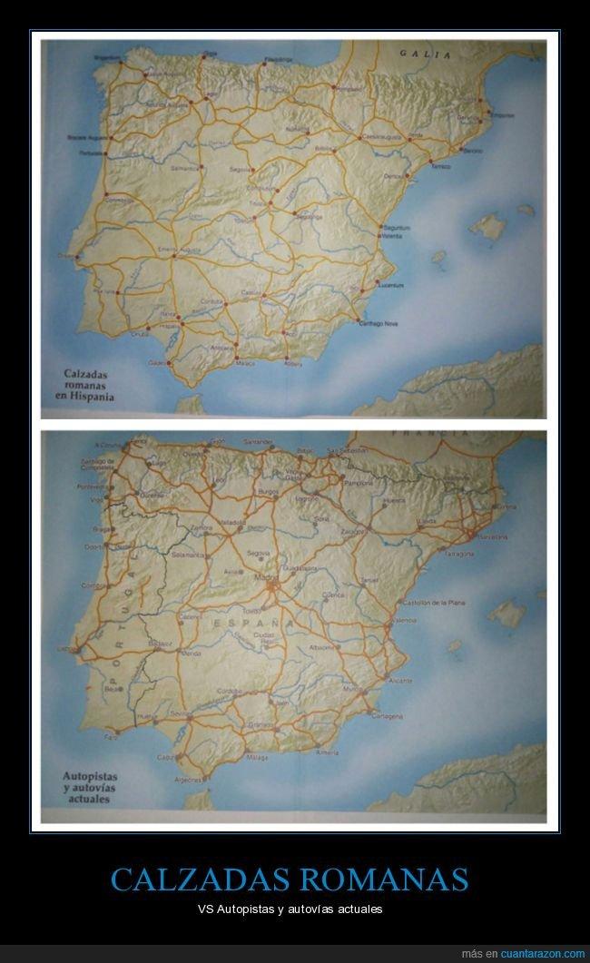 autopistas,calzadas,españa,hispania,romanos