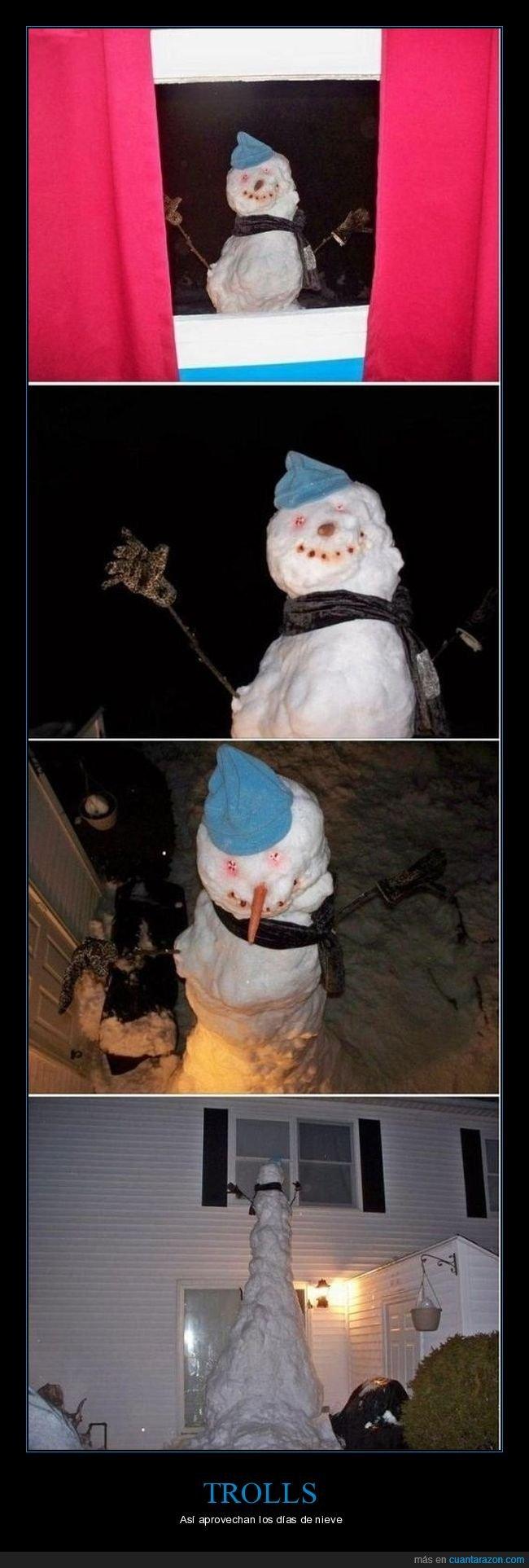muñeco de nieve,trolling,ventana