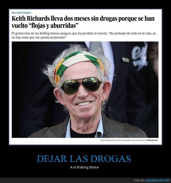 aburridas,drogas,keith richards