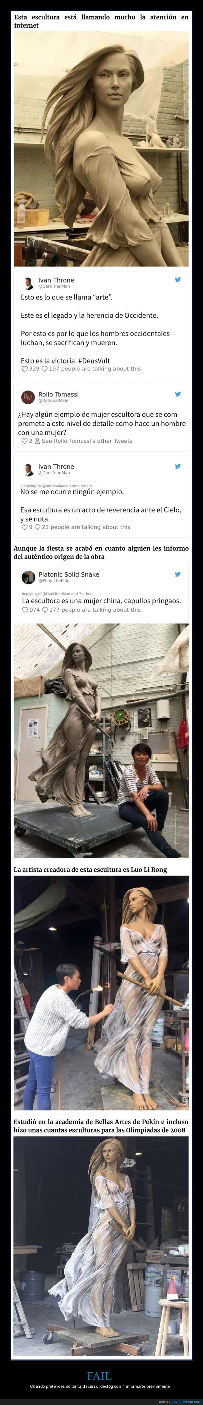 artista,escultura,mujer,sexistas