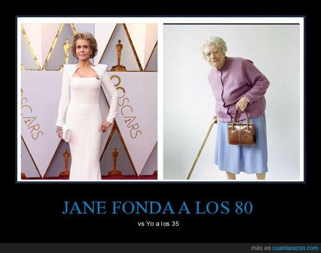 80 años,comparación,jane fonda