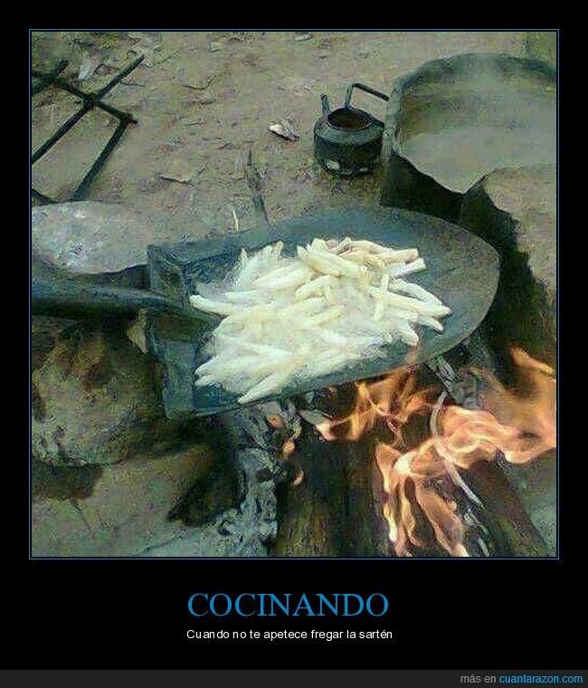 cocinando,pala,patatas