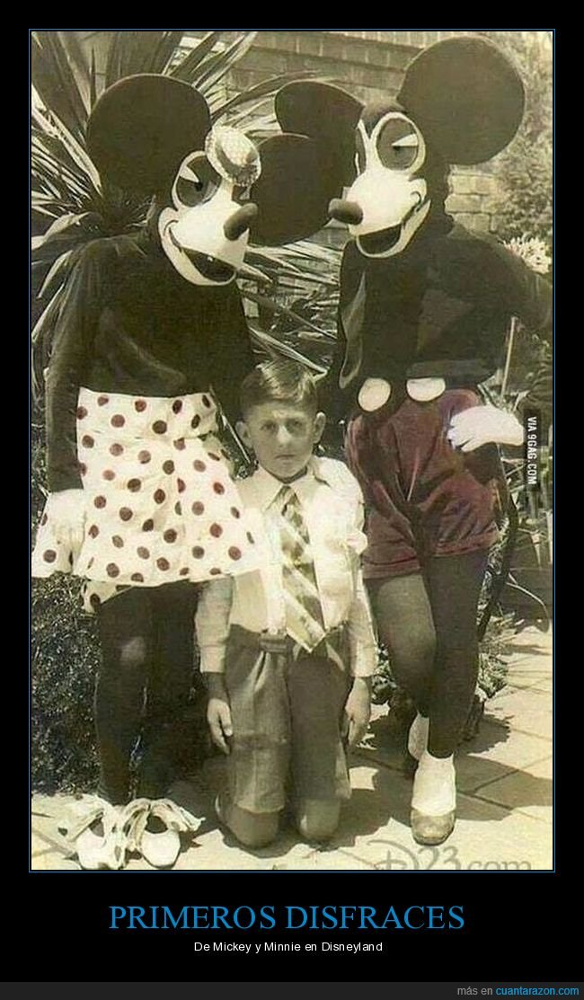 disfraces,mickey mouse,miedo,minnie mouse,retro