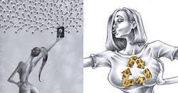 Enlace a Ilustraciones que muestran lo peor de la sociedad con poderosos mensajes subliminales