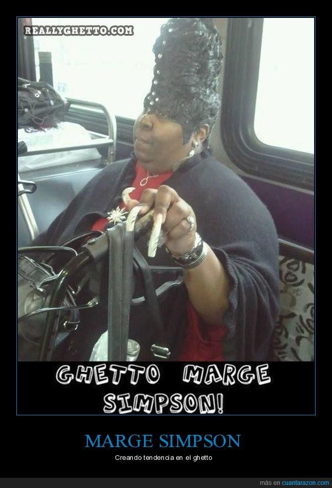 ghetto,marge,peinado,simpsons