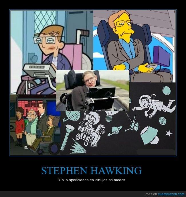 dibujos animados,stephen hawking