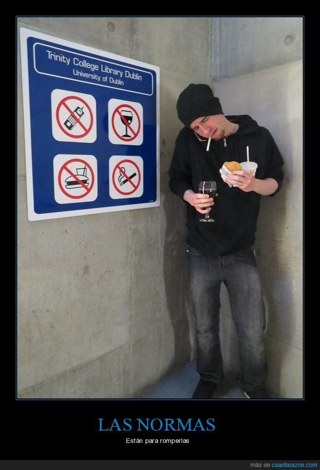 normas,prohibiciones