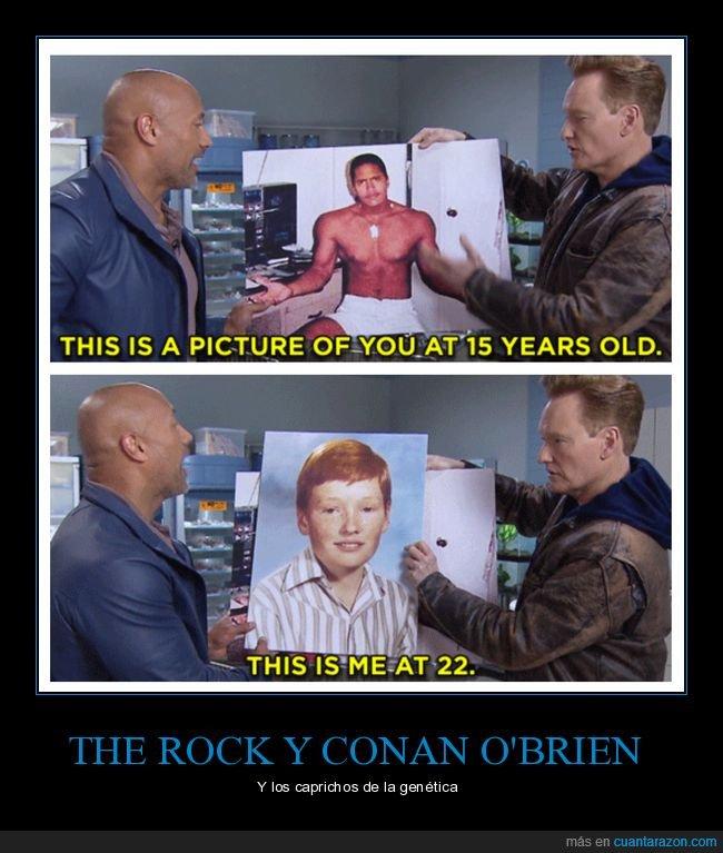 15 años,22 años,conan o'brien,the rock