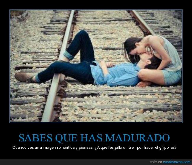 atropellar,romántico,tren,vías