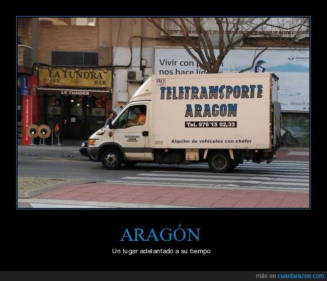 aragón,camión,teletransporte